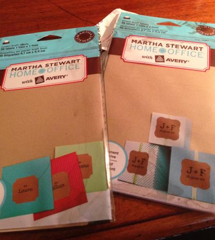 Martha Stewart Brown Kraft Paper Labels