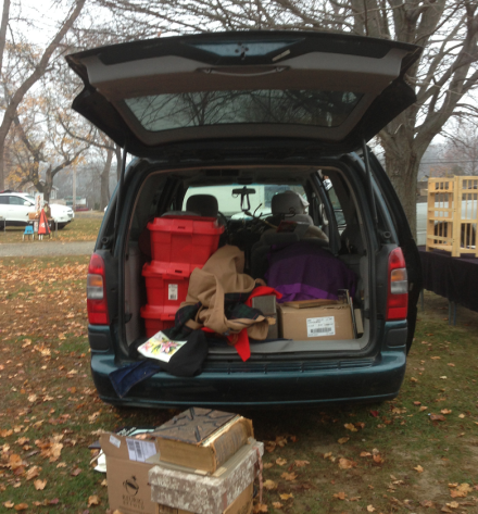 Mini Van Unloading