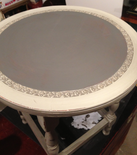 Painted Inner Circle of Tea Table