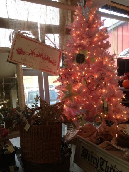 Pink Tree and Santa