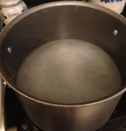 Pot of Simmering Water