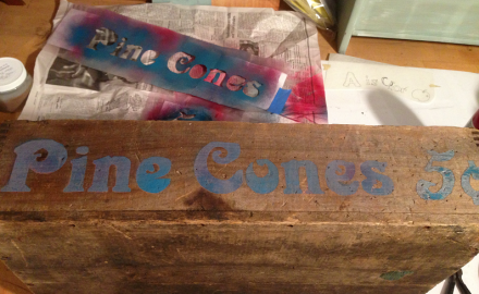 Stencil on Box Completed