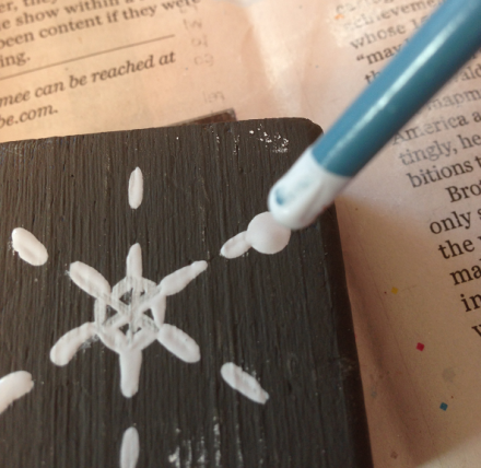 Adding Paint Drops to Snowflake Outlines