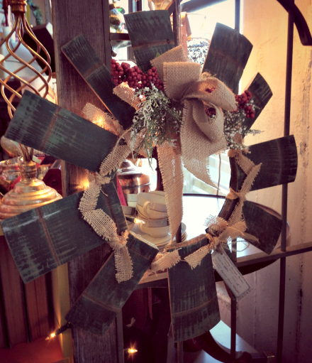 Barrel Wreath At Vintage Thymes Market PM