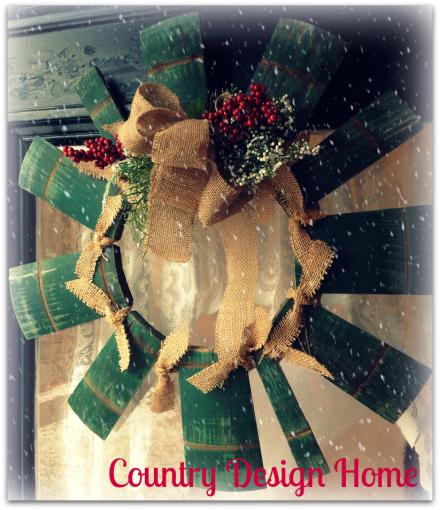 Country Wreath on Door PM