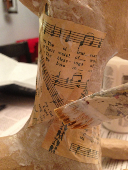 Glueing Sheet Music