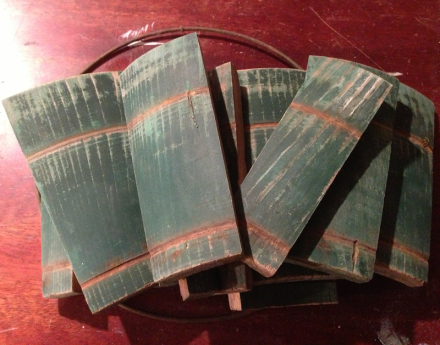 Old Barrel Staves for Wreath