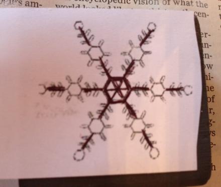Printed Snowflake Pattern