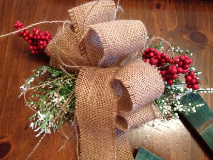 Rustic Wreath Burlap Bow