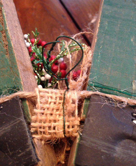 Rustic Wreath Wire Hanger