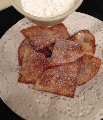 Sopapilla Sprinkled with Confectioners Sugar