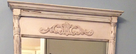 Antiqued Mirror Top Details