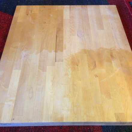 Butcher Block Top Before
