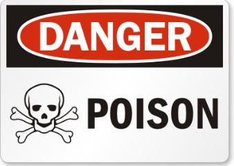 Dangers poison