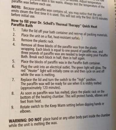 Dr. Scholls Instructions