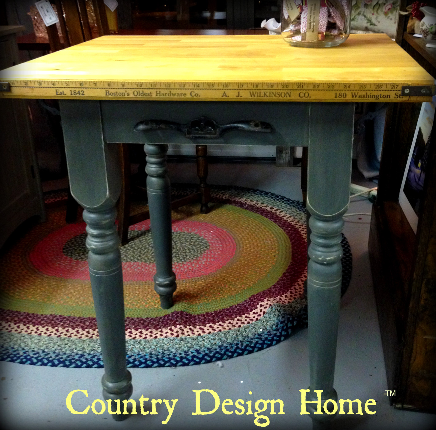 vintage butcher block table country design home