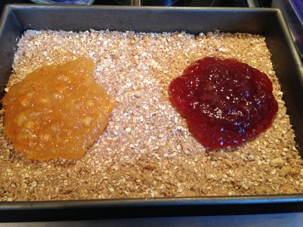 Oatmeal Jam Squares Jam in Pan