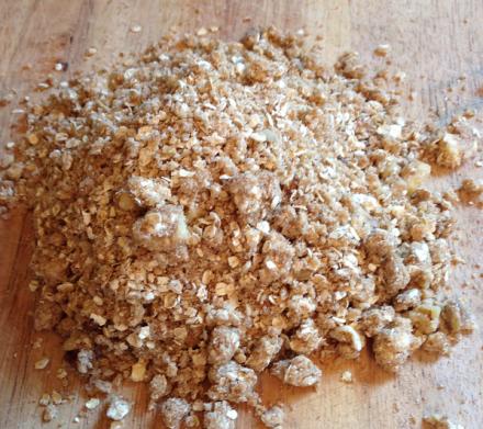 Oatmeal Jam Squares Mixture