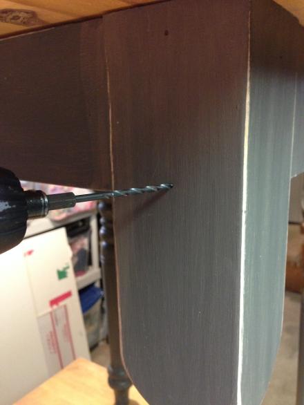 Predrilling holes for brackets