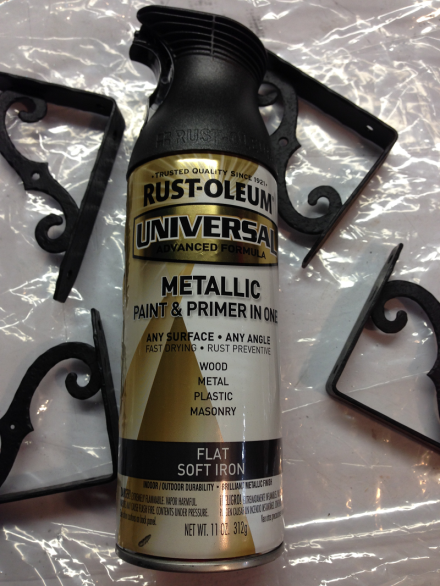 Rustoleum Metallic Paint for Brackets