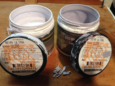 Behar Lavender Paint Samples