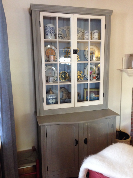 Painted Country Cupboard