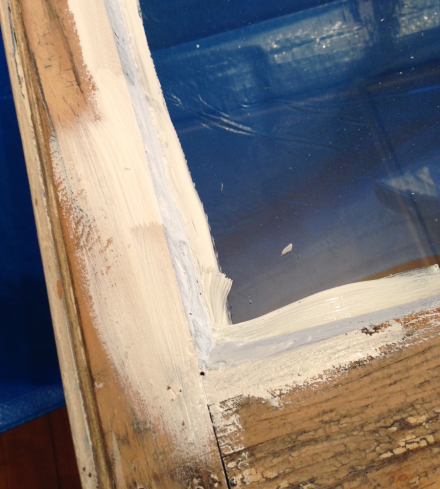 Reglazing and painting window panes