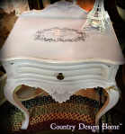 French Lavender Side Table Completed PM