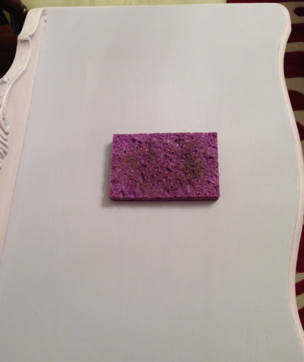 French Lavender Side Table Dampening with Sponge