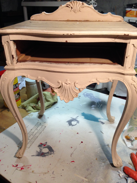 French Lavender Table Before