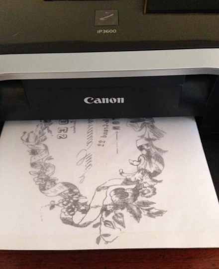 French Lavender Table Printing with Freezer Paper