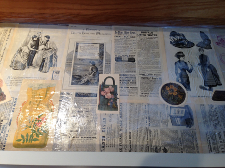 Hope Chest Drawer Interior Vintage Newspaper Clips