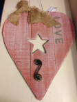 Rustic Wood Heart LOVE Sign