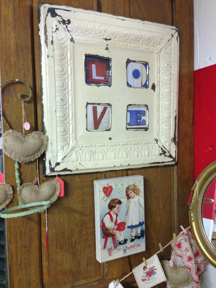 Vintage Thymes Ceiling Tile Love Sign
