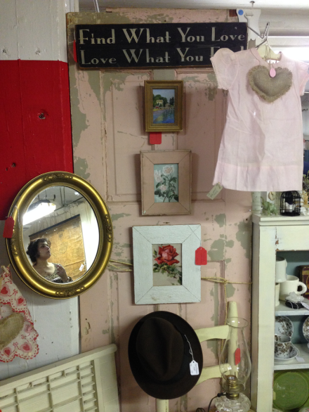 Vintage Thymes Find What you Love Sign