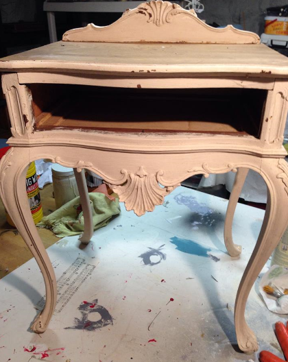 Vintage Thymes Lavender Table Before