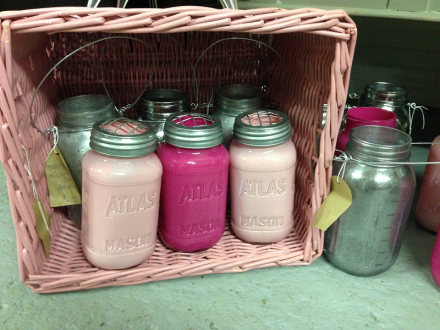 Vintage Thymes Mason Jar Vases