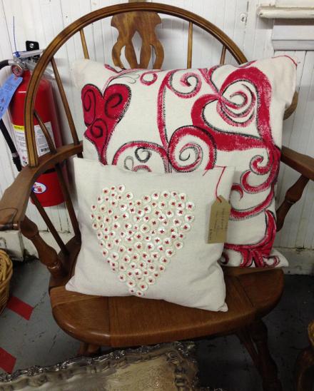 Vintage Thymes Valentine Pillows