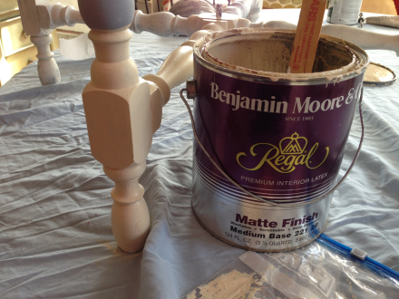 Antique Table Benjamin Moore Custom Color