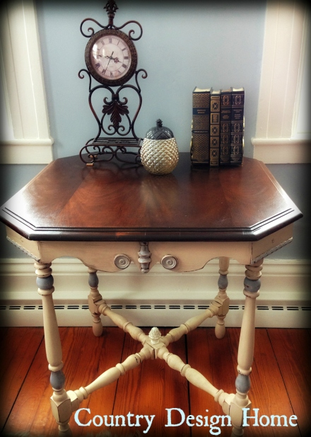 Antique Table Clock and Books Staged PM