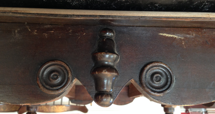 Antique Table Old Finish Detail
