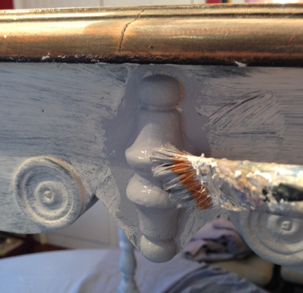 Antique Table Painting Detail