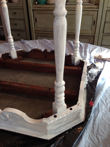Antique Table Primer Upside Down