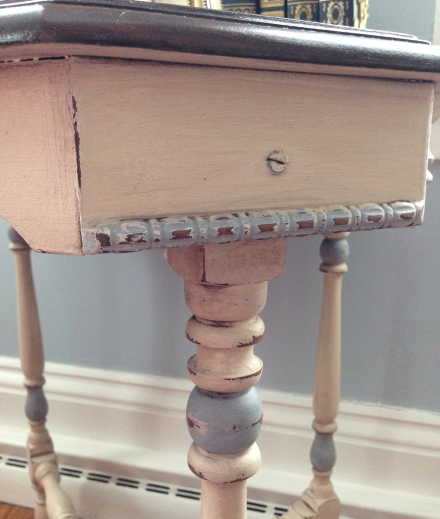 Antique Table Side Detail Finished