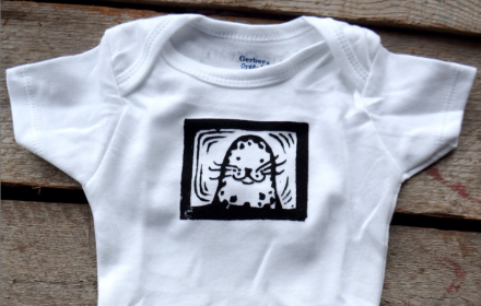 Baby Seal Onesie One Ocean Arts