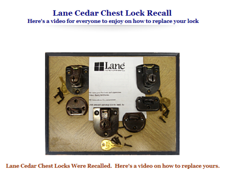Lane Hope Chest Lock Replacement Video
