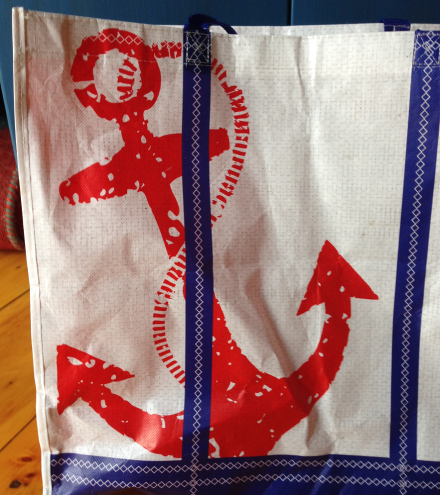 Nautical Cabinet Anchor Stencil Home Goods Bag