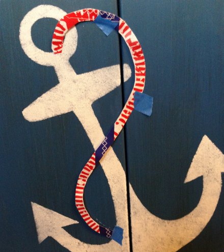 Nautical Cabinet Taping Rope Pattern