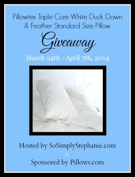 Pillowtex Triple Core Pillow Giveaway