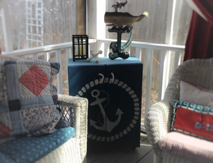 summer porch nautical theme